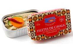 Conserves de filets de maquereaux condiments - Briosa - Conserverie Portugal Norte - Conserves de sardines du Portugal