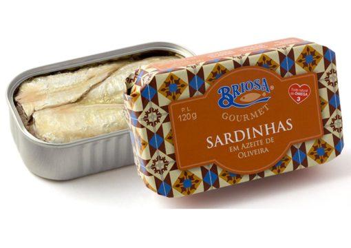 Conserves de sardines à l'huile d'olive - Briosa - Conserverie Portugal Norte - Conserves de sardines du Portugal