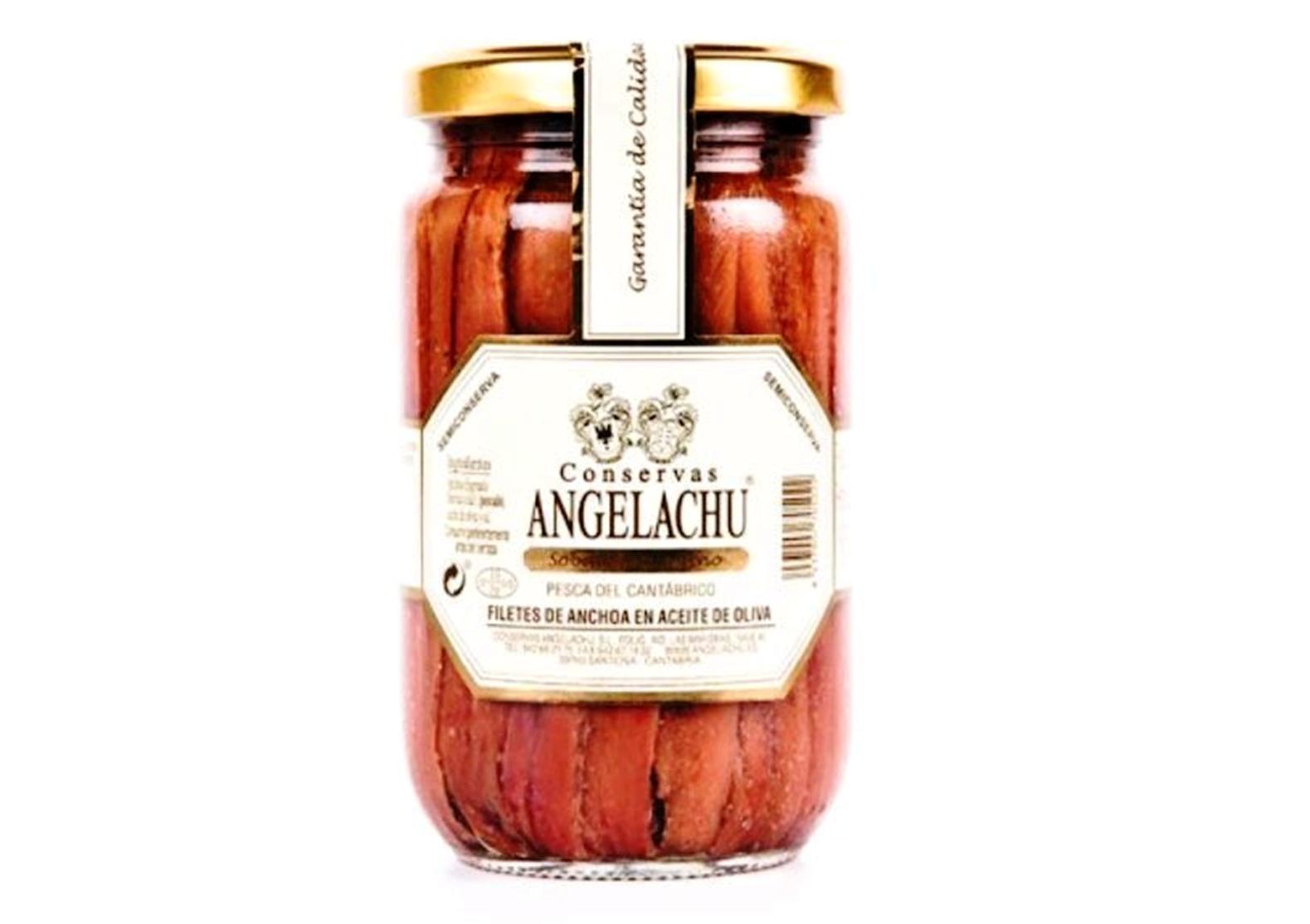 Filets d'anchois verrine - Angelachu - Conserves de filets d'anchois de Santoña - Cantabrie