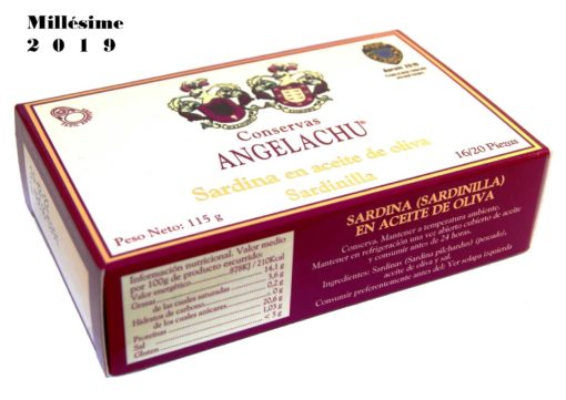 Petites sardines Millésimées - Angelachu - Conserves de filets d'anchois et de sardines de Santoña - Cantabrie