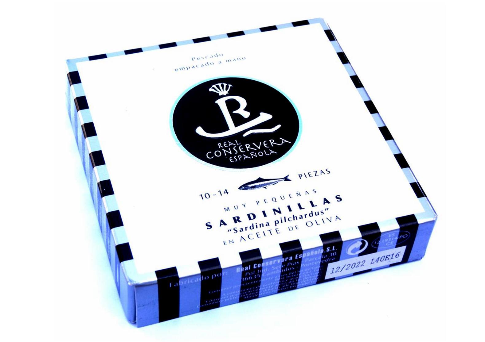 Petites sardines à l'huile d'olive 10-14 - Real Conservera Espanola