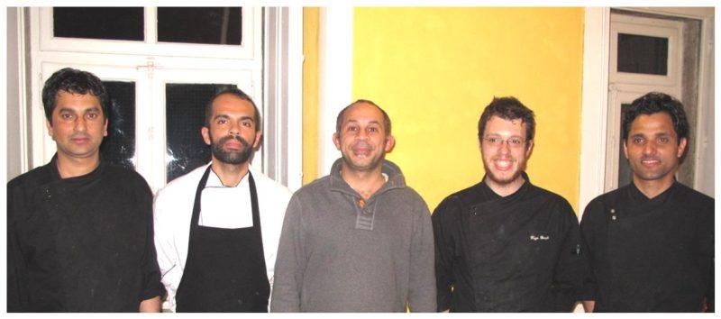 Ivan Fernandes et son équipe au restaurant Clube de Jornalistas