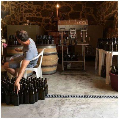 Mise en bouteille - Tiago Teles - Vins naturels bio du Portugal