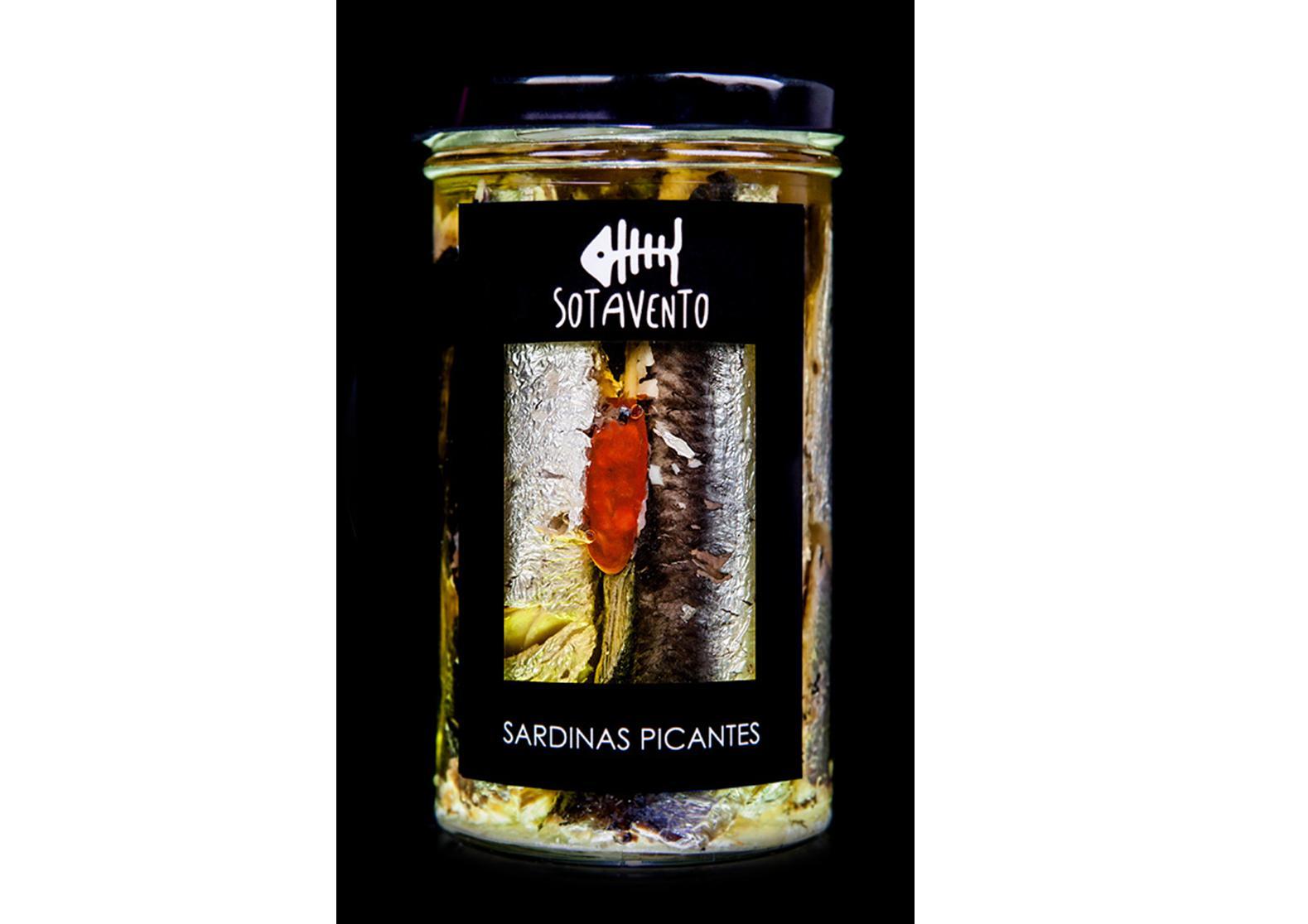 Sardines à l'huile d'olive extra vierge épicée - Sotavento - Conserves de Galice