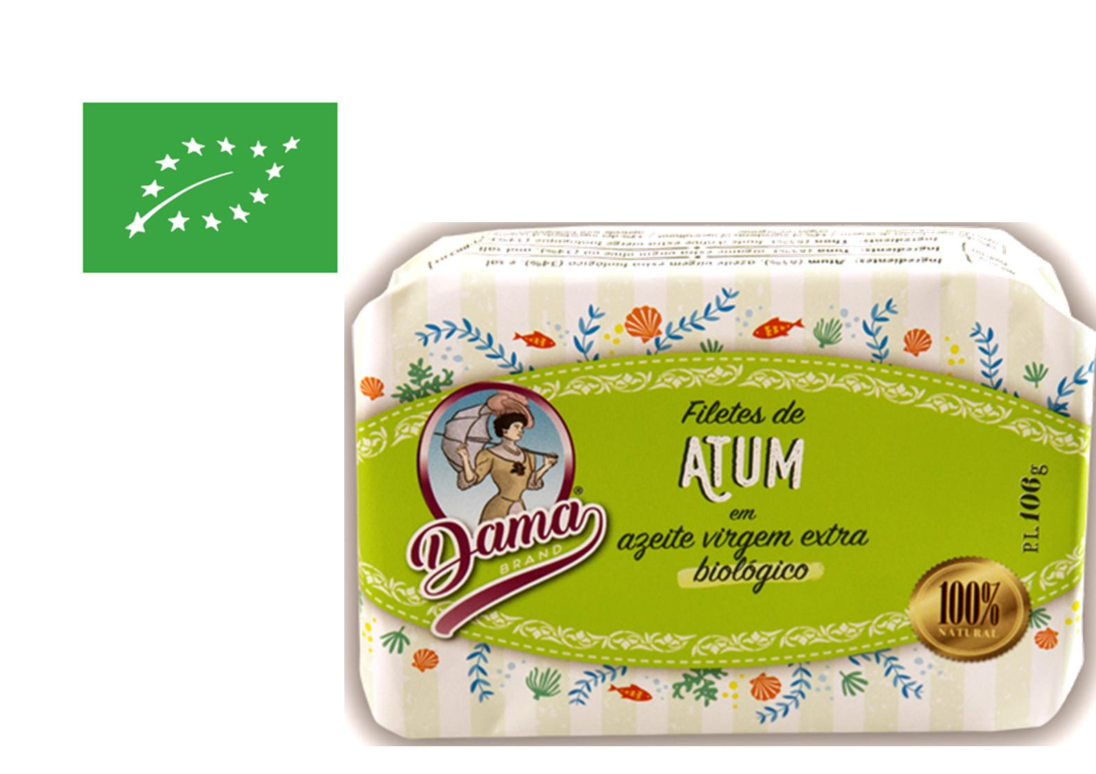 Filets de thon à l'huile d'olive extra vierge biologique - Dama - Conserveri Portugal Norte