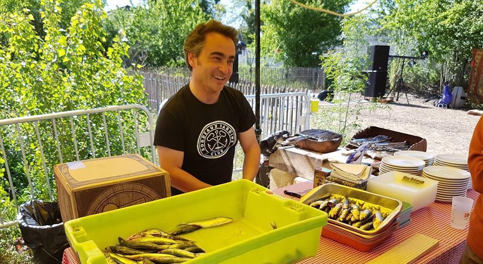 Grillades de sardines au jardin l'Ephémère à Bègles