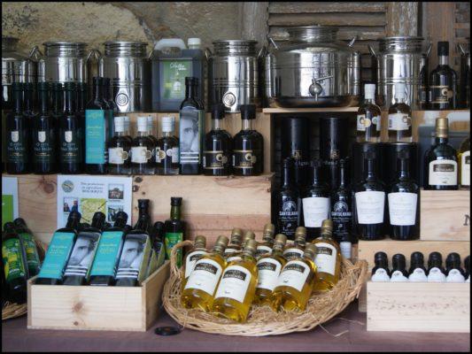 Huiles d'olive au Comptoir du Portugal