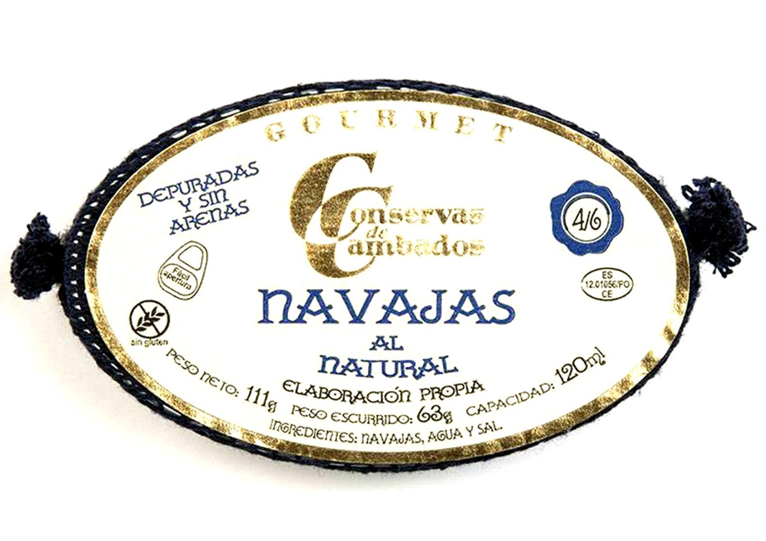 Couteaux au naturel - Conserves de Cambados - Galice Espagne