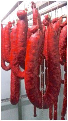 Fumaison des saucisses au chataignes - Casa da Avoa - produits de Galice Espagne