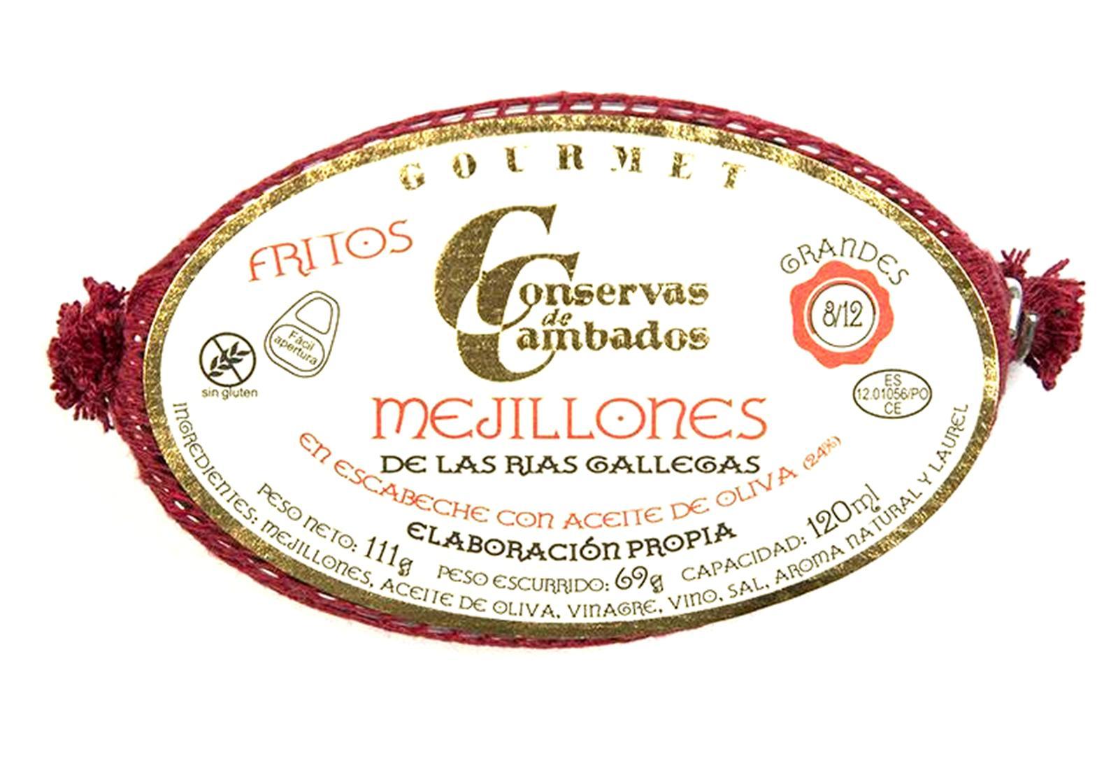 Moules de Galice à l'escabèche - Conserves de Cambados - Galice Espagne