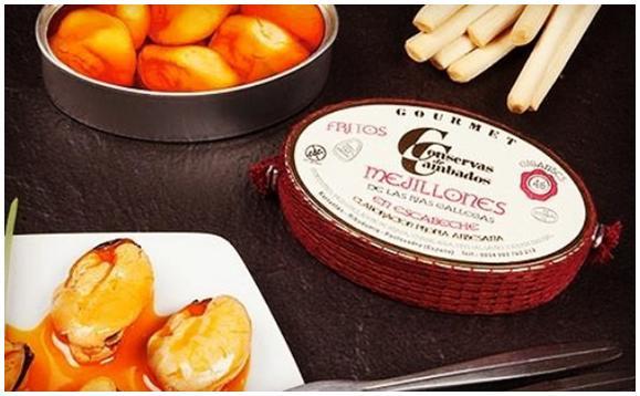 Moules de Galice à l'escabèche présentation - Conserves de Cambados - Galice Espagne