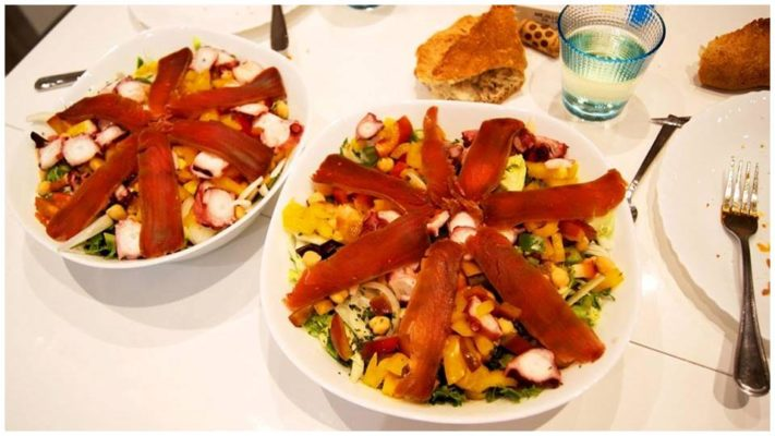 Muxama dans une salade - Pescaria do Algarve