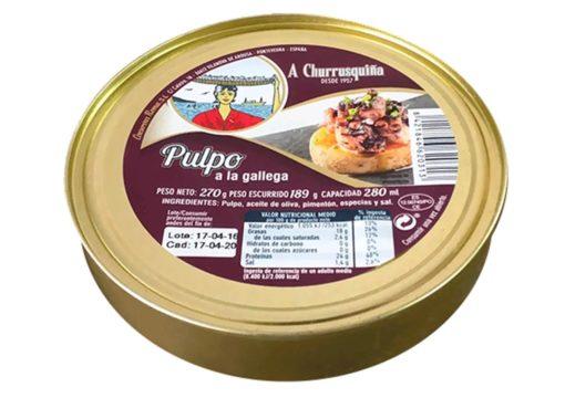 Poulpe à la Gallega 280g - crustacés et fruits de mer - produits de Galice Espagne