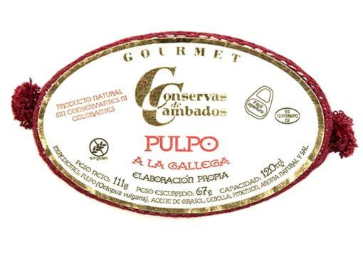 Poulpe à la Gallega - Conserves de Cambados - Galice Espagne