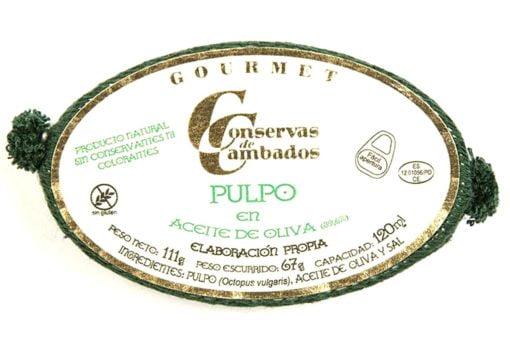 Poulpe à l'huile d'olive - Conserves de Cambados - Galice Espagne