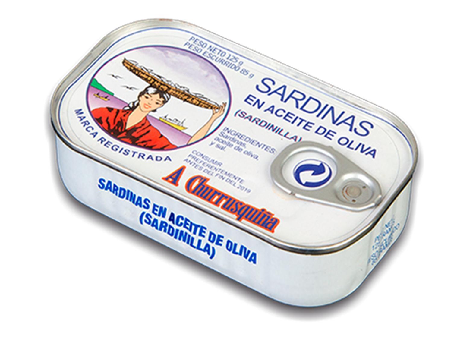 Sardinettes à l'huile d'olive 120g - Conserves Roma Churrusquina - produits de Galice Espagne