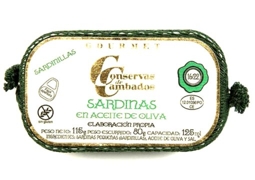 Sardinettes à l'huile d'olive - Conserves de Cambados - Galice Espagne