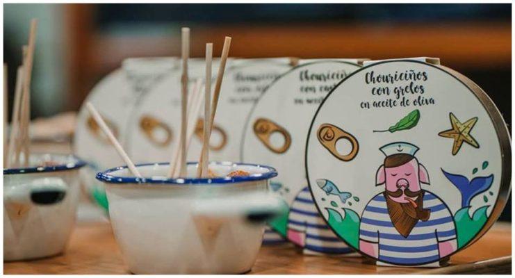 Suggestion de présentation des petites saucisses - Casa da Avoa - produits de Galice Espagne