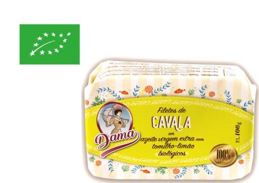 Filets de maquereau à l'huile d'olive extra vierge biologique et au thym citron- Dama - Conserveri Portugal Norte