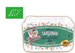 Filets de sardines à l'huile d'olive extra vierge biologique - Dama - Conserverie Portugal Norte