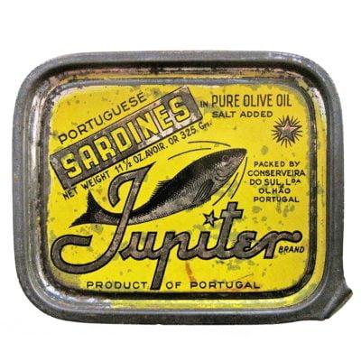 Très vieille boite Jupiter - Conserves de sardines.