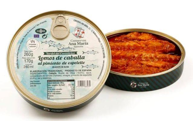 Boite de maquereaux au piment d'Espelette - Conserves Ana Maria - Conserves de la mer de Cantabrie Espagne