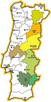 Carte des Appellations des huiles d'olive du Portugal
