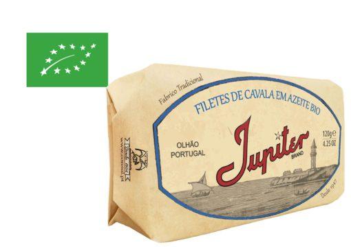 Filets de maquereaux à l'huile d'olive bio - Jupiter - Conserveria do Sul - Portugal