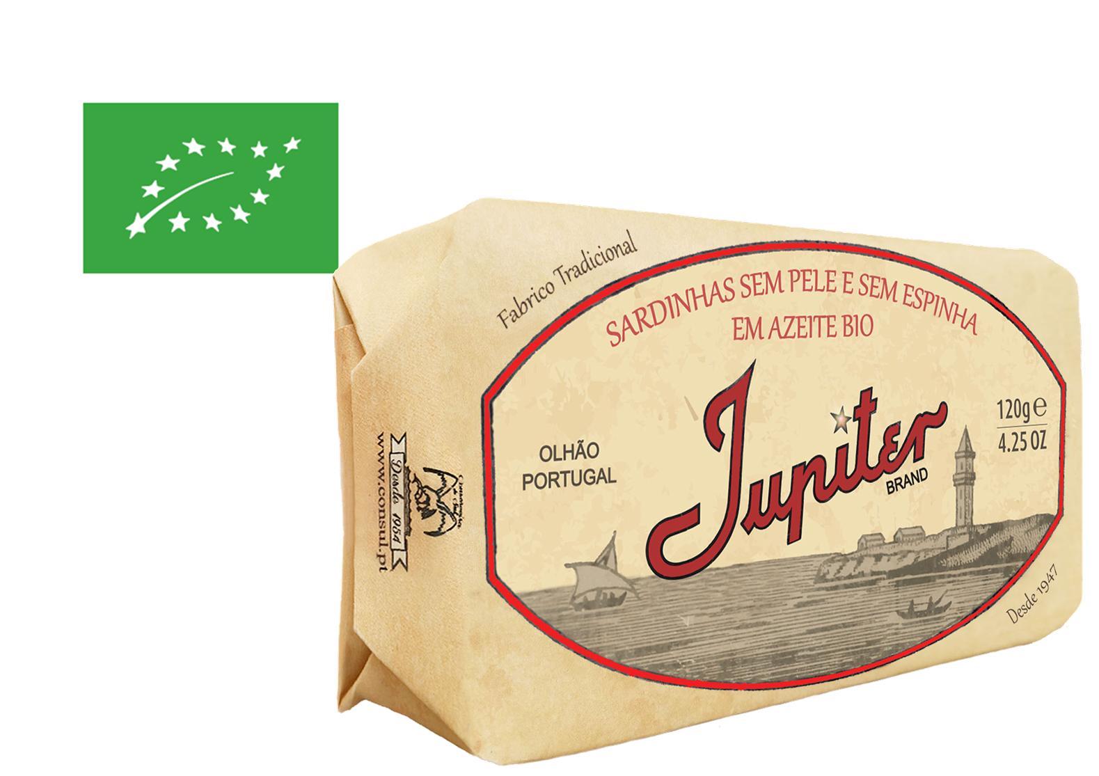 Sardines sans peau ni arêtes à l'huile d'olive bio - Jupiter - Conserveria do Sul - Portugal