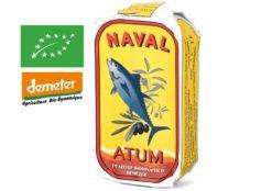 Filets de thon bonito à l'huile d'olive bio - Naval - Conserves de thon du Portugal