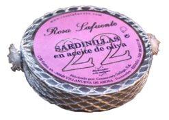 22 Petites sardines à l'huile d'olive - Rosa Lafuente - Conserves de poissons de Galice