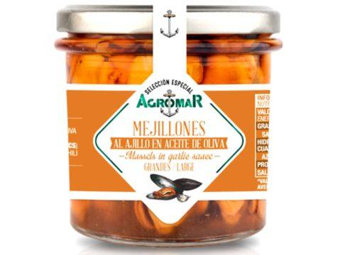 Grandes moules à l'ail - Agromar - Conserves de poissons et crustacés - Asturies Espagne