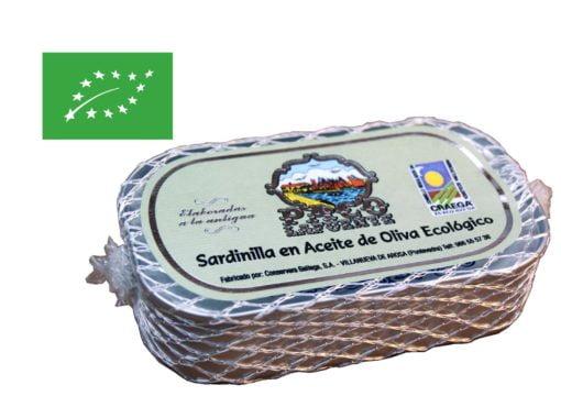 Petites sardines à l'huile d'olive biologique - Paco Lafuente - Conserves de poissons de Galice