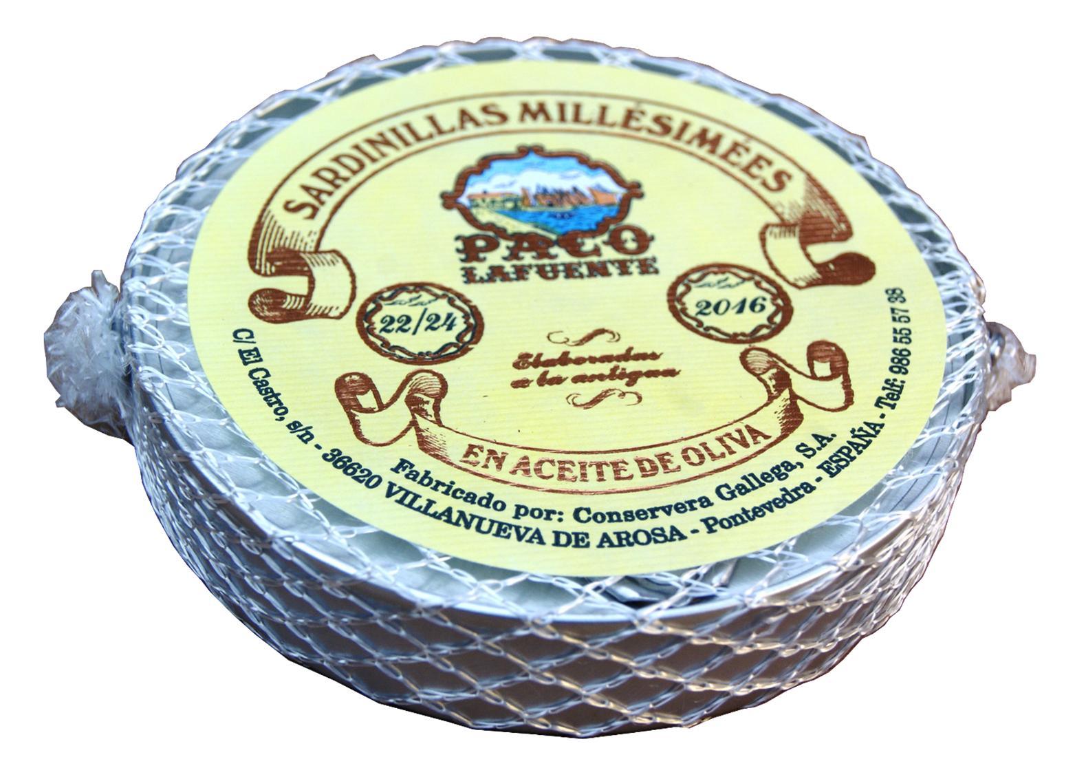 Petites sardines millésimées à l'huile d'olive - Paco Lafuente - Conserves de poissons de Galice