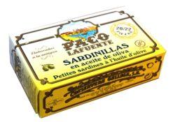 Sardines à l'huile d'olive - Paco Lafuente - Conserves de poissons de Galice