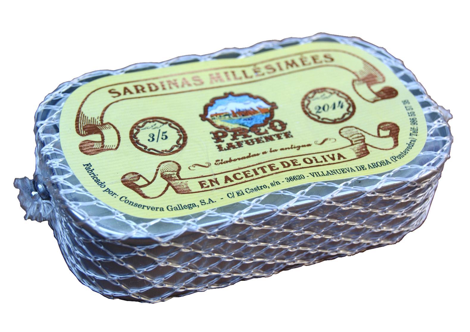 Sardines millésimées à l'huile d'olive - Paco Lafuente - Conserves de poissons de Galice