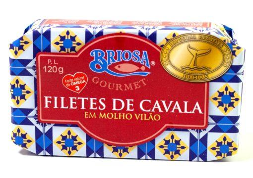 Filets de maquereau à la sauce vilao - Briosa - Conserverie Portugal Norte - Conserves de sardines du Portugal