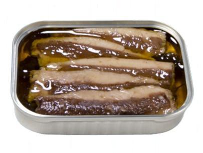Filets de sardines à l'huile d'olive extra vierge biologique ouverte - Dama - Conserverie Portugal Norte
