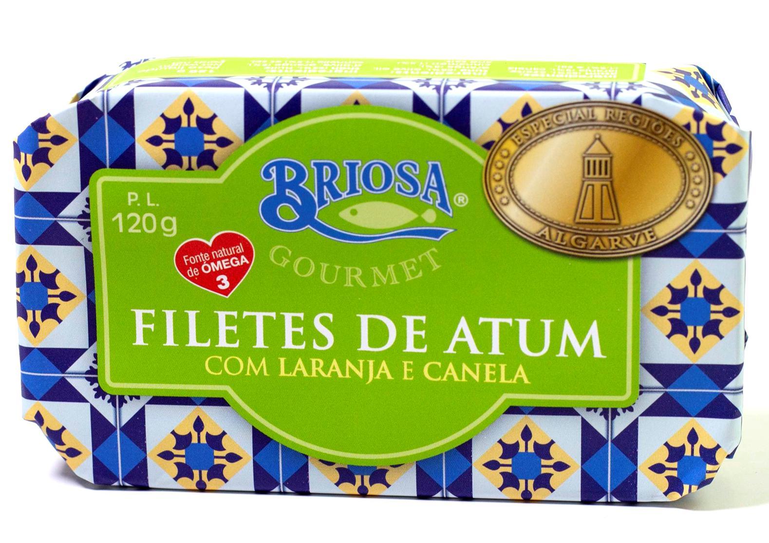 Filets de thon à la canelle et à l'orange - Briosa - Conserverie Portugal Norte - Conserves de sardines du Portugal