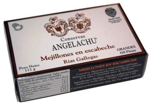 Moules galiciennes à l'escabèche - Angelachu - Conserves d'anchois de Santoña - Cantabrie
