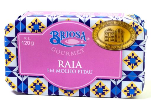 Raie à la sauce pitau - Briosa - Conserverie Portugal Norte - Conserves de sardines du Portugal