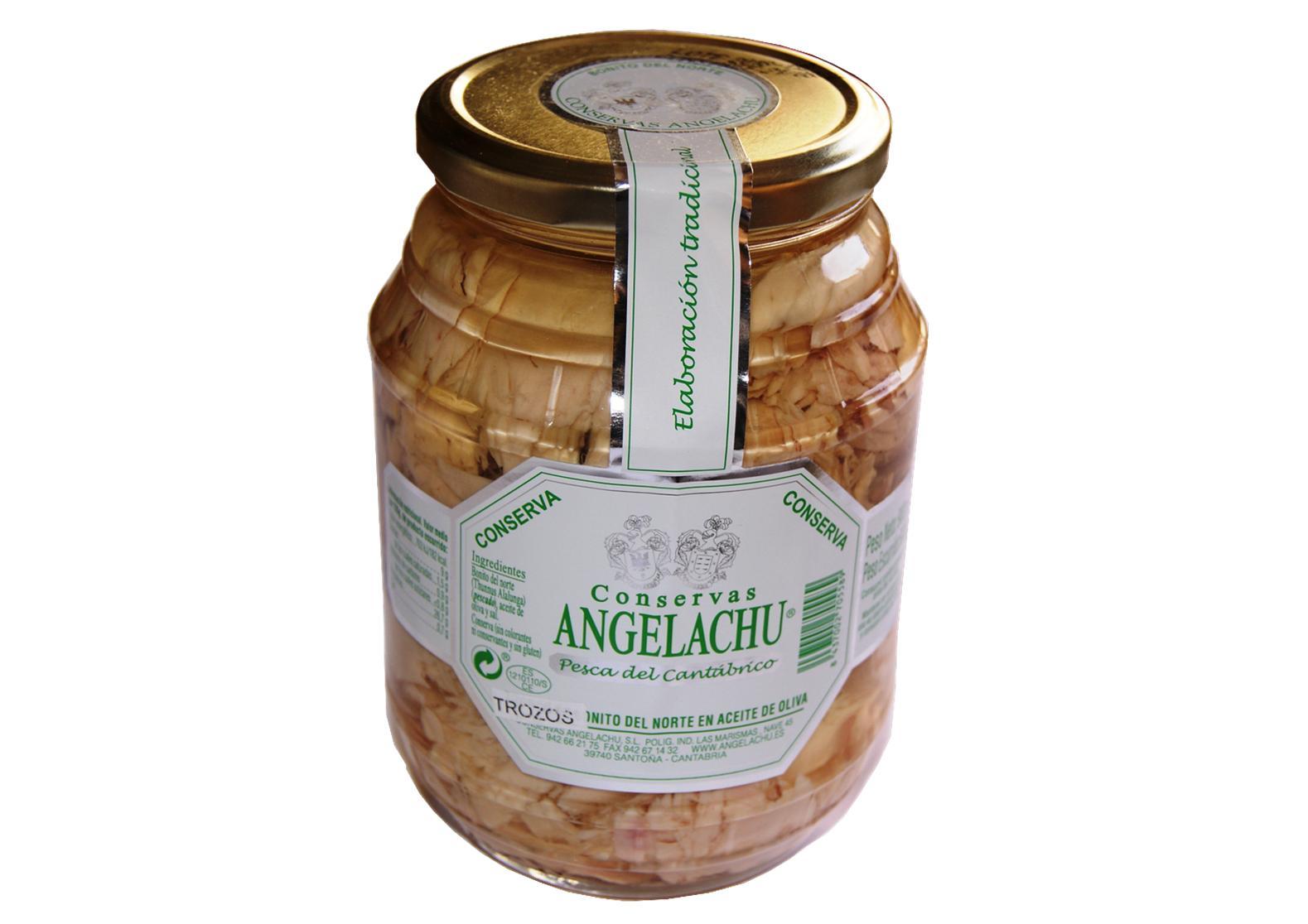 Thon bonito del norte en morceaux format familial - Angelachu - Conserves d'anchois de Santoña - Cantabrie