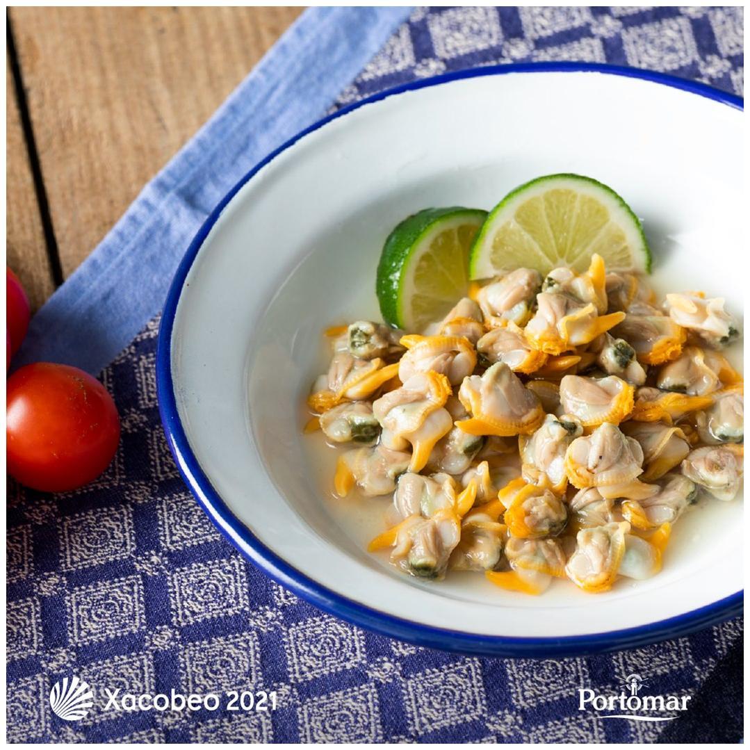 Assiette de coques au naturel - Portomar - Conserves de poissons et crustacés - Galice - Espagne