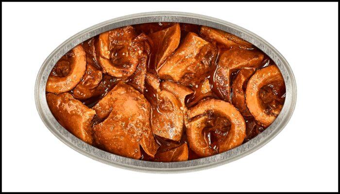 Boite de bouillabaisse de calamars à la sauce américaine - Portomar - Conserves de poissons et crustacés - Galice - Espagne