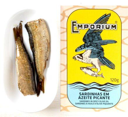 Boite de sardines épicées - Emporium - Conserves de poissons du Portugal