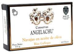Couteaux au naturel des Rias Gallegas - Angelachu - Conserves d'anguilles de Santoña - Cantabrie