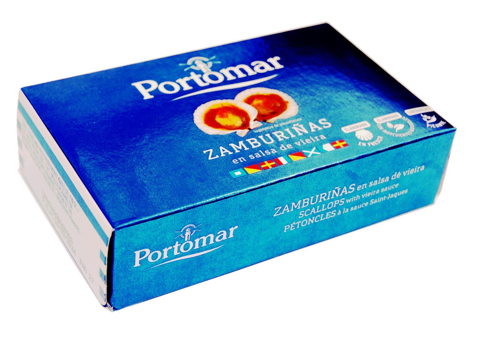 Noix de pétoncles - Portomar - Conserves de poissons et crustacés - Galice - Espagne