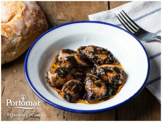 Plat de calamars à l'encre - Portomar - Conserves de poissons et crustacés - Galice - Espagne