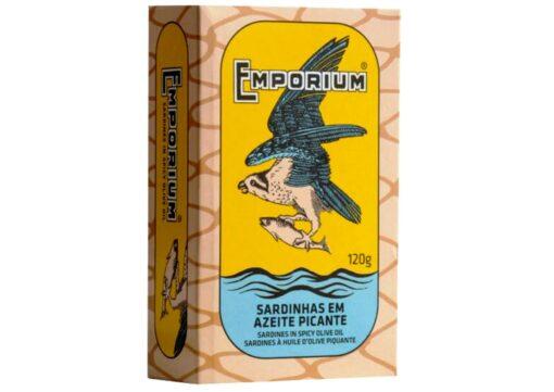 Sardines à l'huile d'olive épicée - Emporium - Conserves de poissons du Portugal
