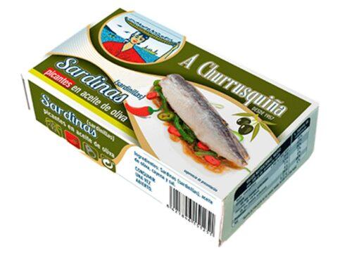 Sardinettes à l'huile d'olive épicée - Conserves Roma Churrusquina - produits de Galice Espagne
